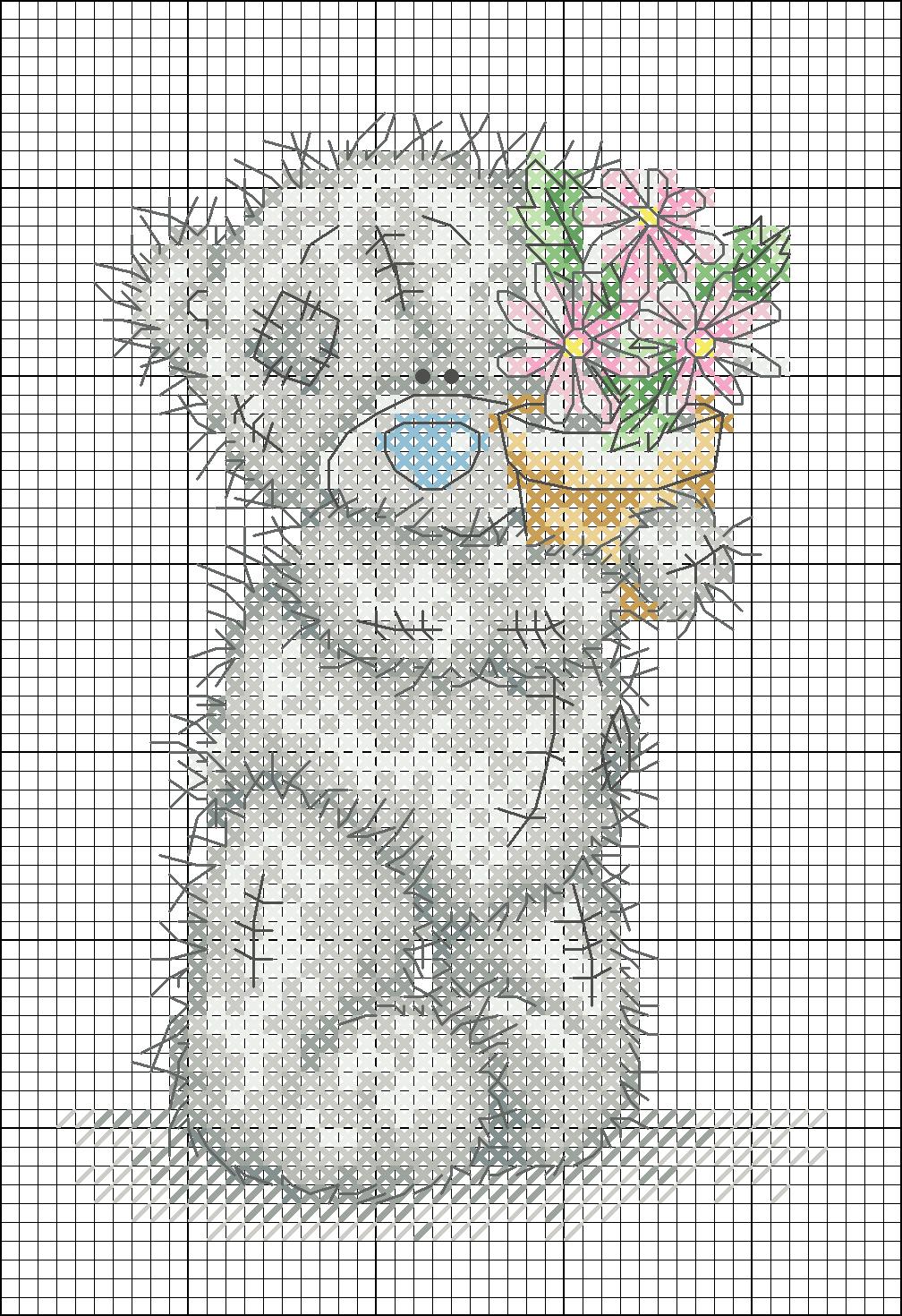 Вышивка крестом схемы бесплатно-мишки тедди 36