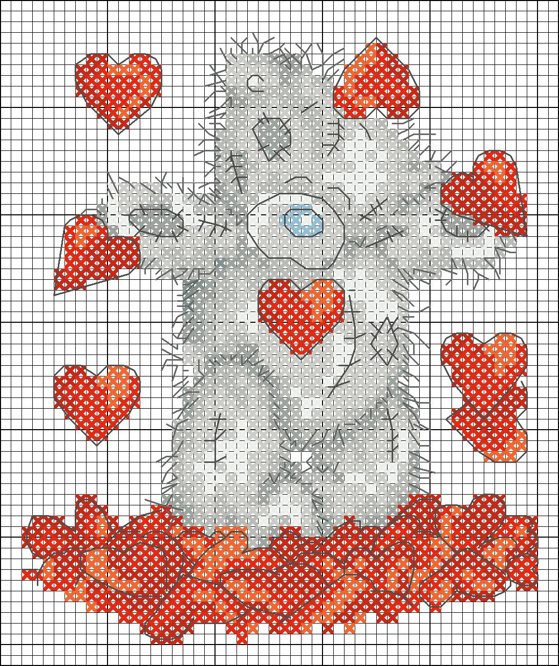 Вышивка схемы бесплатно сердце