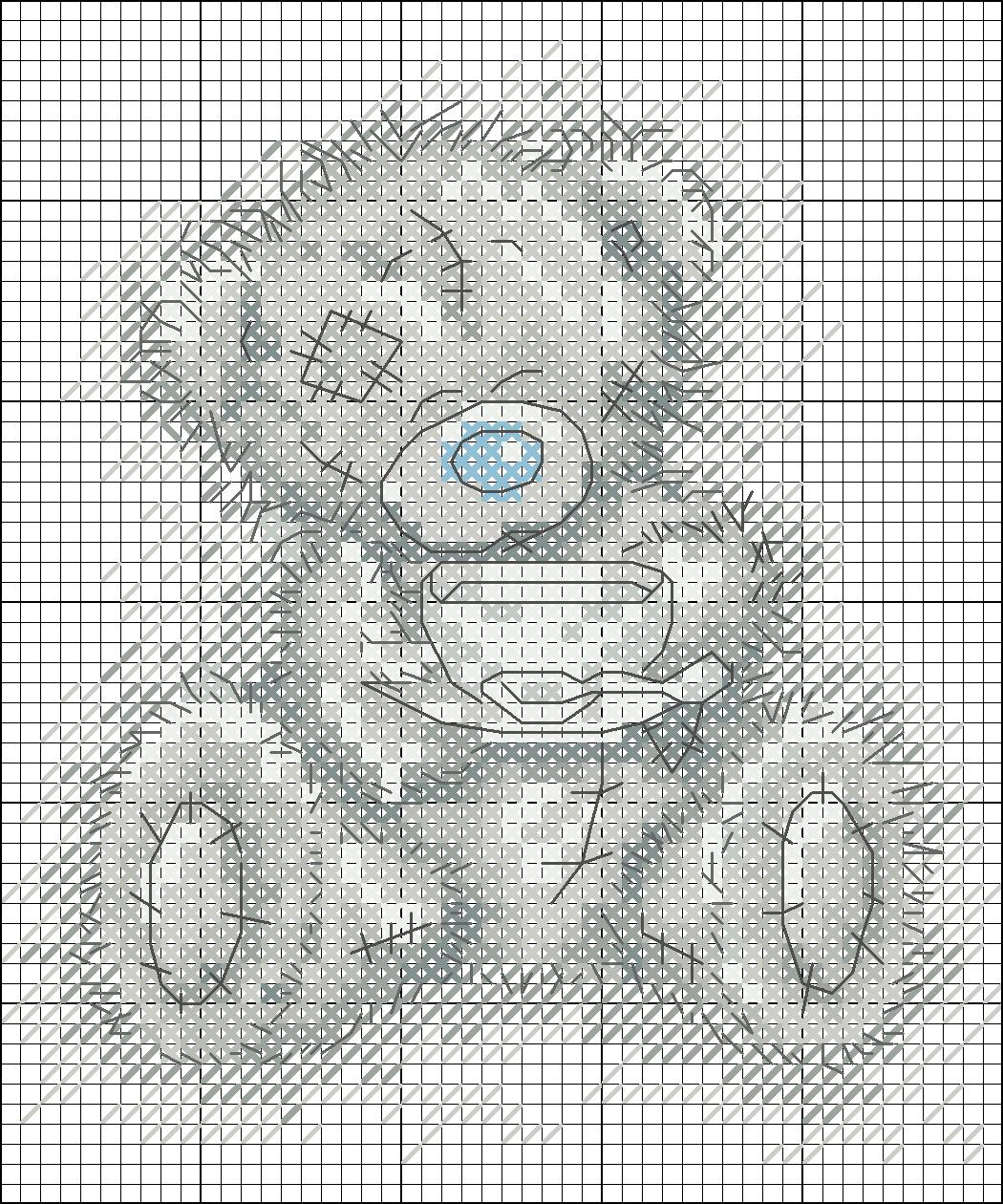 Схема для вышивки мишками
