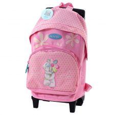 Рюкзак на колёсиках розовый ME TO YOU.
